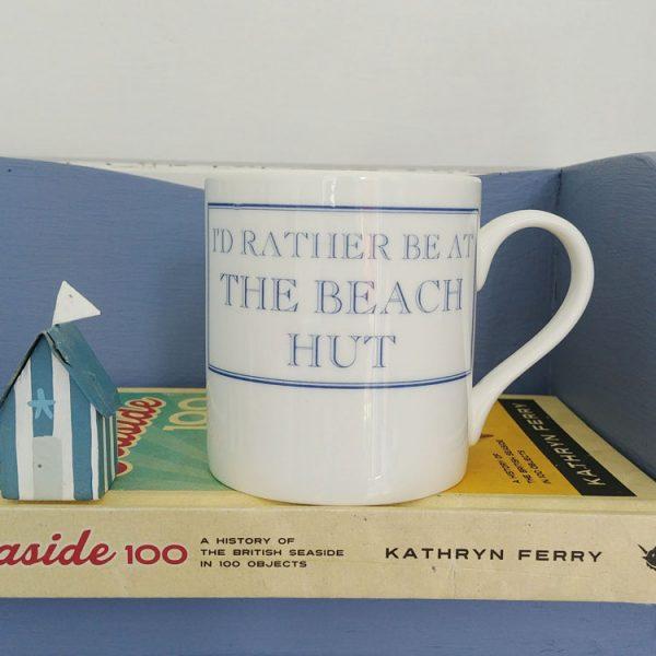 id rather be at the beach hut mug