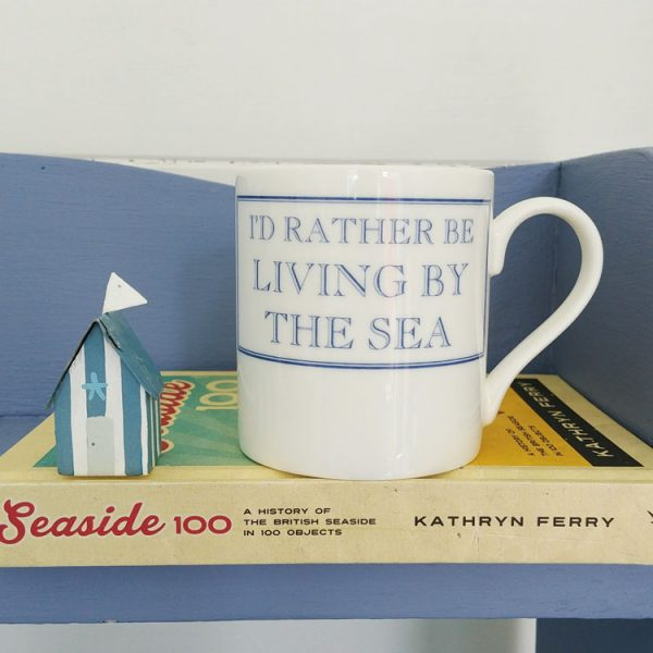 id rather be living by the sea mug