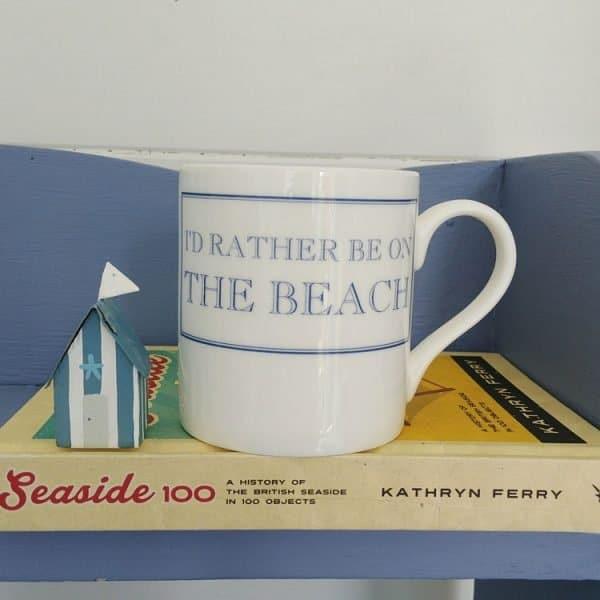 id rather be on the beach mug