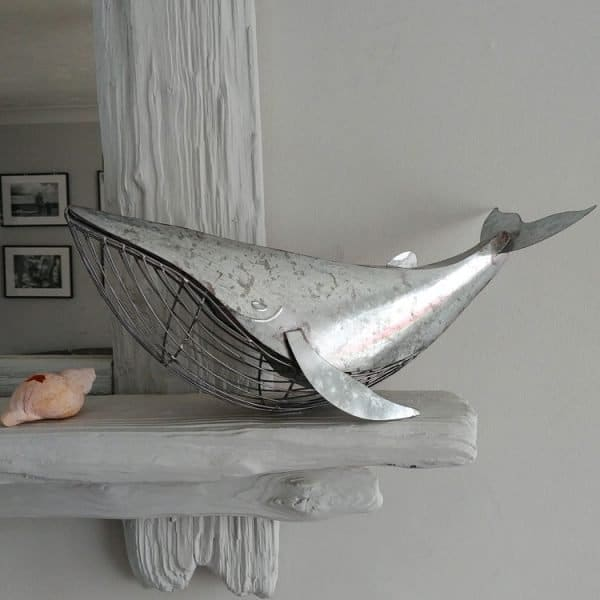 """""""Will"""" Silver Metal Whale"""