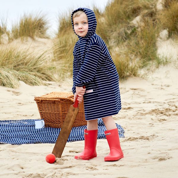 towelling childrens long hooded top