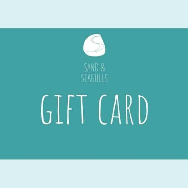 sand and seagulls gift card