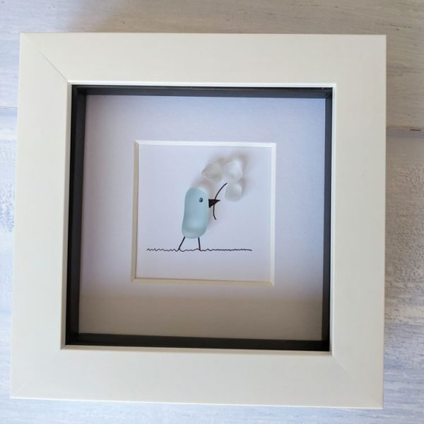 just for you framed seaglass picture