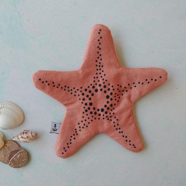 pink starfish purse