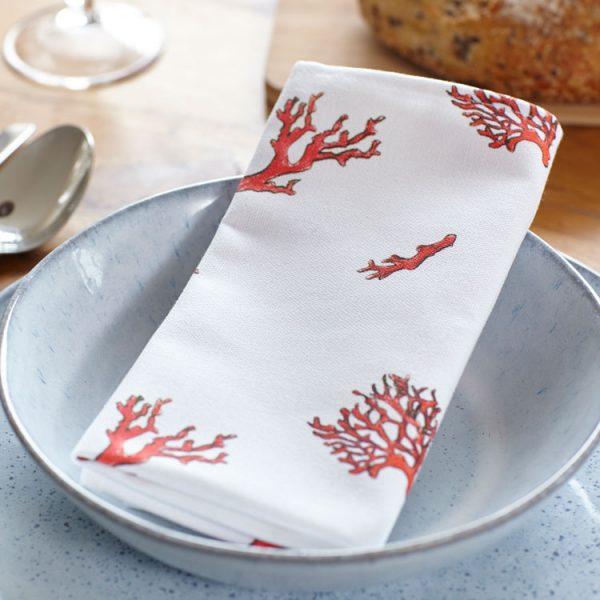 coral cotton napkins