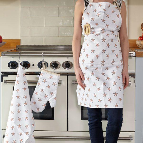 cotton starfish apron