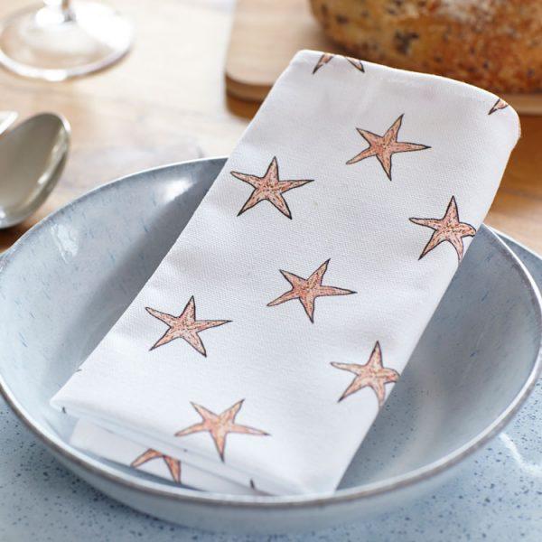 starfish cotton napkins