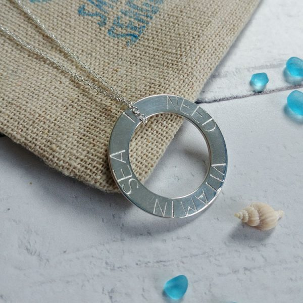 i need vitamin sea hand stamped washer necklace