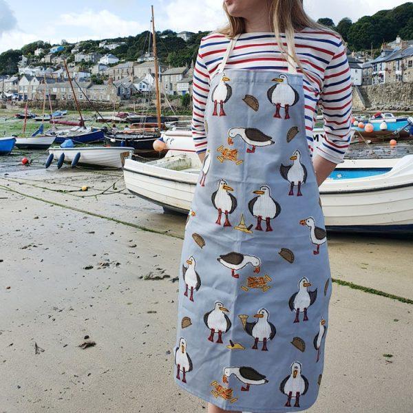 cheeky seagull apron