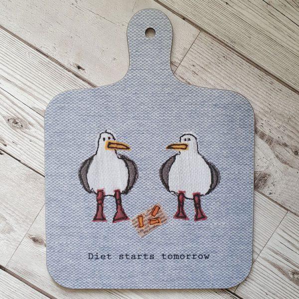 seagull chopping board